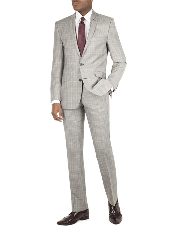 Grey Check Kings Fit Suit Jacket
