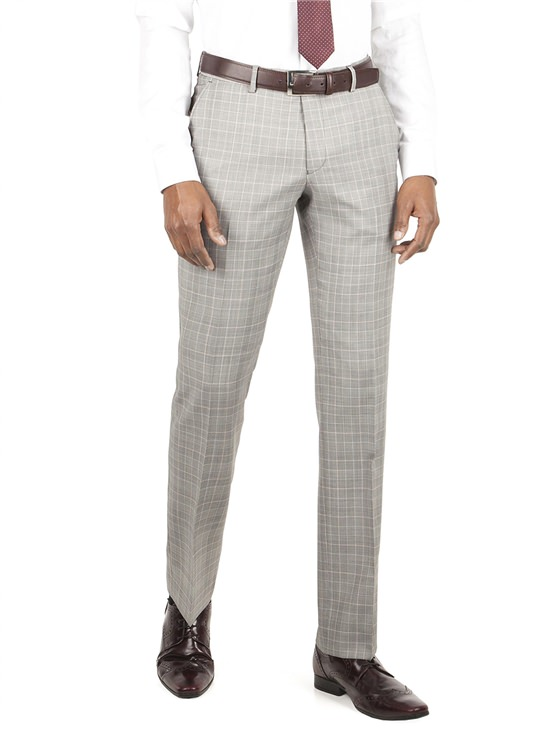 Grey Check Kings Fit Suit Trouser