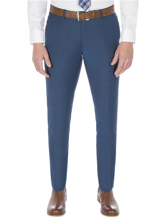 Dark Teal Blue Tonic Camden Trouser