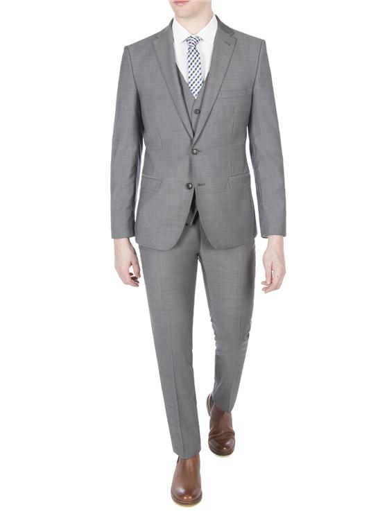 Grey Three Piece Suit | Classic Fit