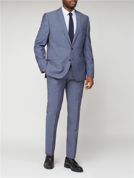 Men's Suits Men's Petrol Blue 3 Piece Tonic Suit | Ben Sherman | Est 1963