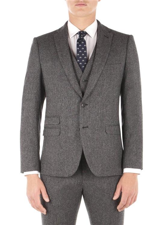 Smoked Pearl British Tweed Camden Fit Jacket