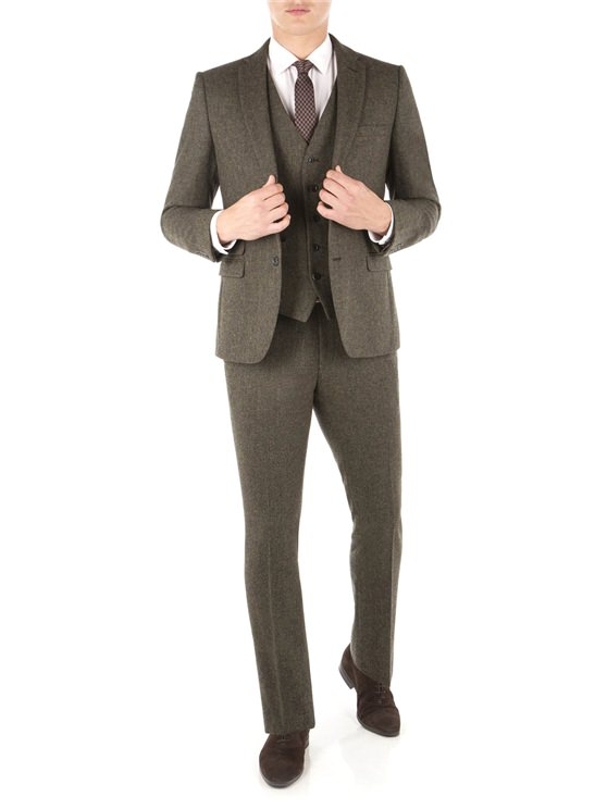 Rifle Green British Tweed Camden Fit Suit