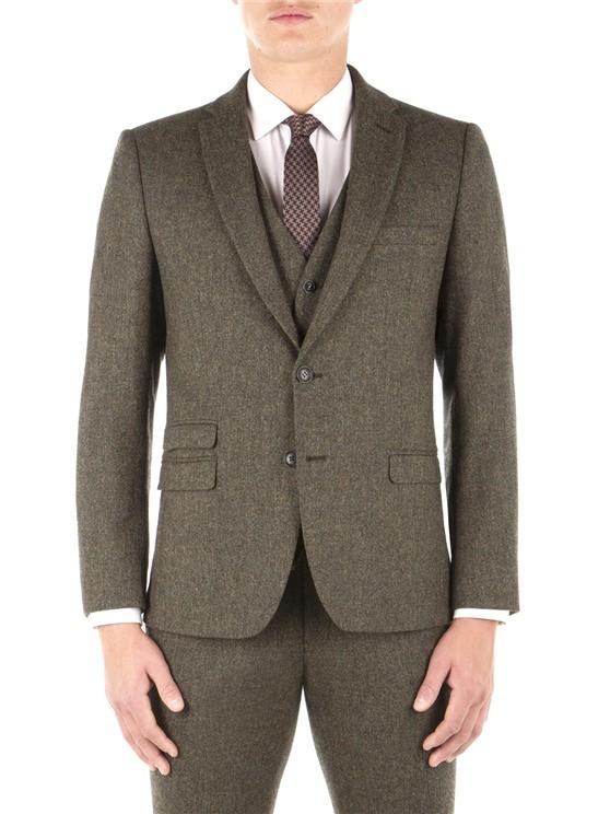 Rifle Green Birtish Tweed Camden Fit Jacket
