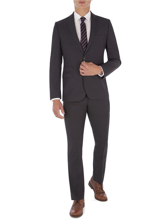 Peacoat Structure Navy Check Camden Fit Suit