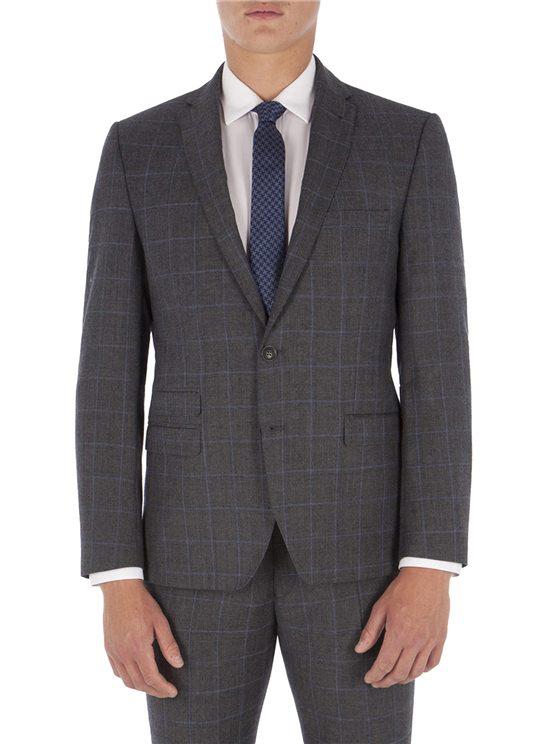 Grey with Blue Overcheck Camden Jacket