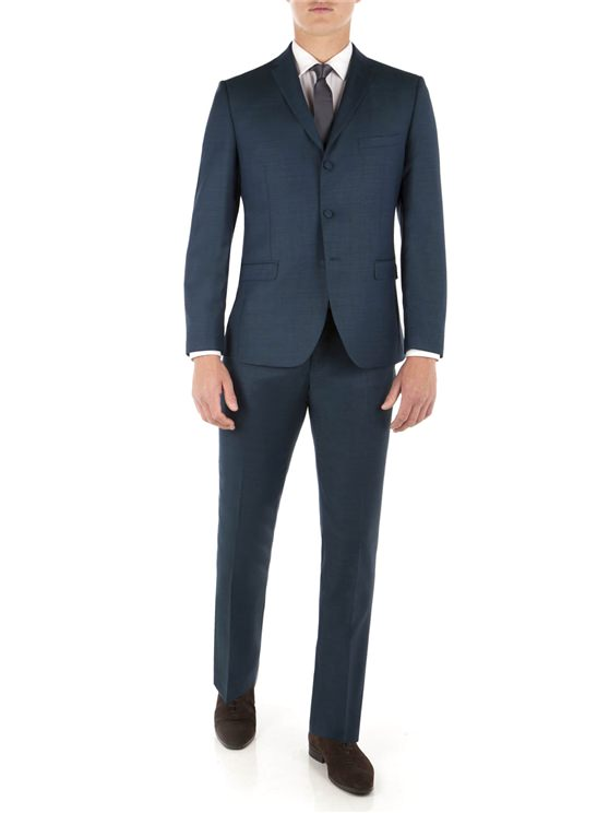 Teal Pick and Pick Camden Fit Suit Jacket