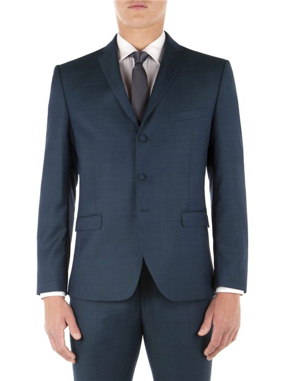 Teal Pick and Pick Camden Fit Suit