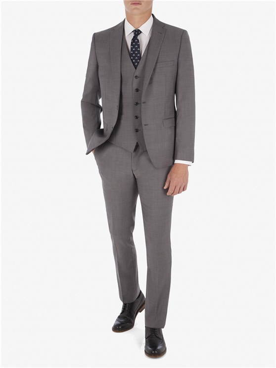 Grey Smoked Pearl Twill Camden Fit Suit