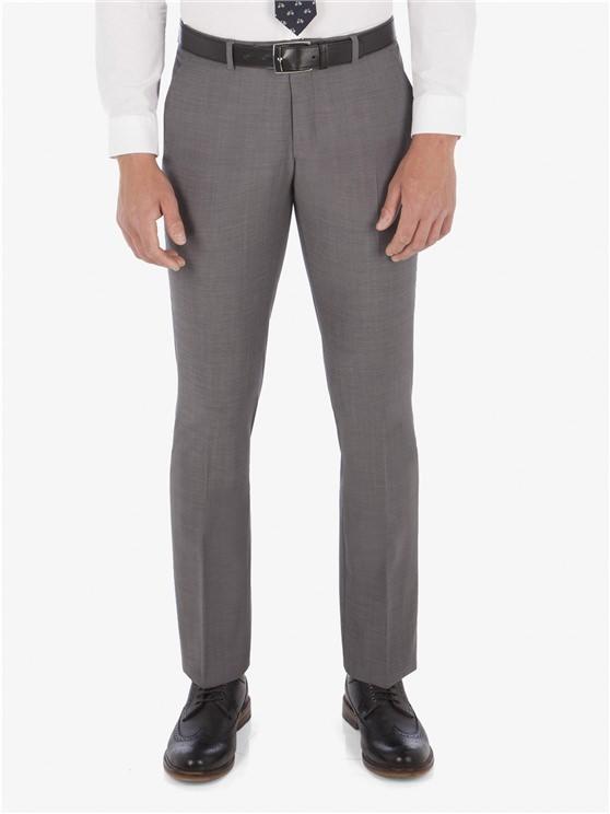 Grey Smoked Pearl Twill Camden Trouser