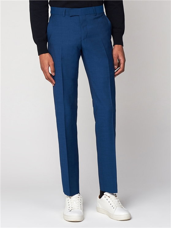 Deep Teal Blue Tonic Camden Trouser