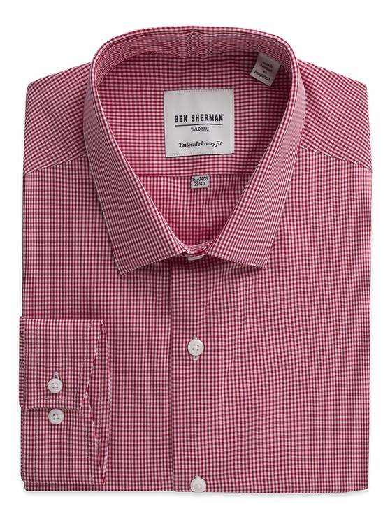 Mini Gingham Skinny Fit Shirt