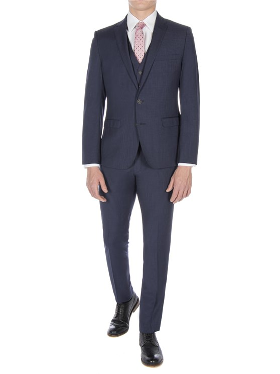 Slate Blue Puppytooth Camden Fit Suit Jacket