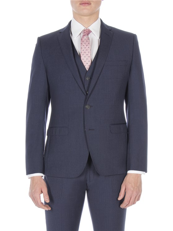 Slate Blue Puppytooth Camden Fit Suit