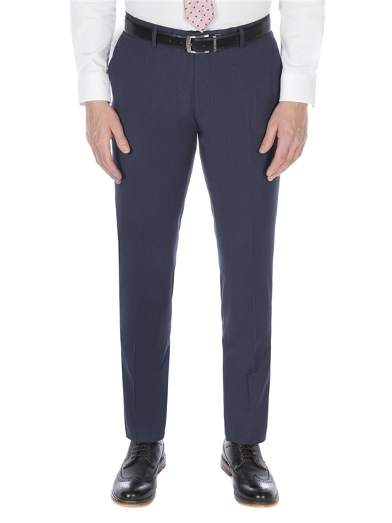 Slate blue puppytooth trouser