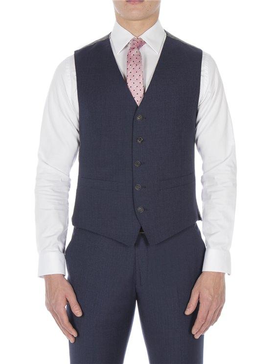 Slate blue puppytooth waistcoat