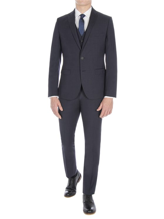 Peacoat Broken Check Suit Jacket