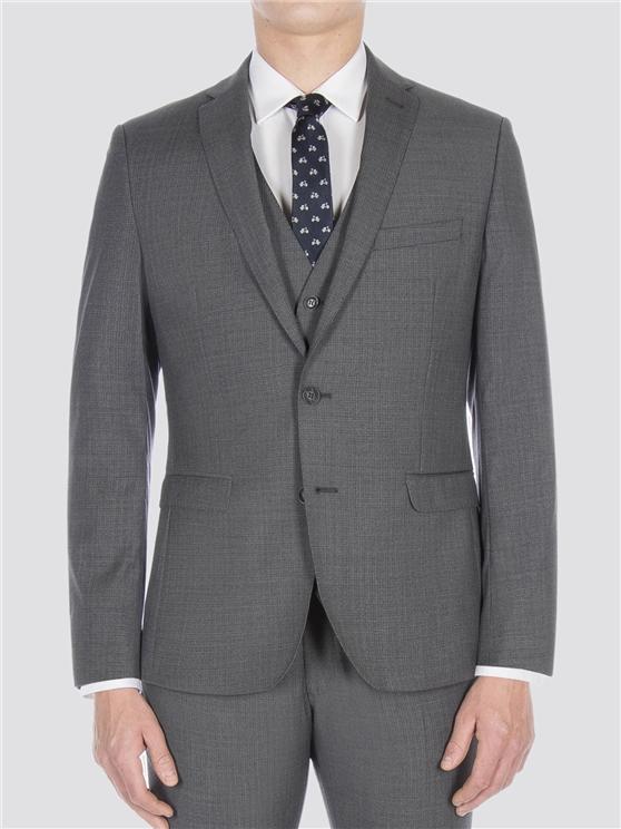Smoked grey broken check jacket