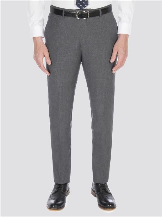 Smoked grey broken check trouser