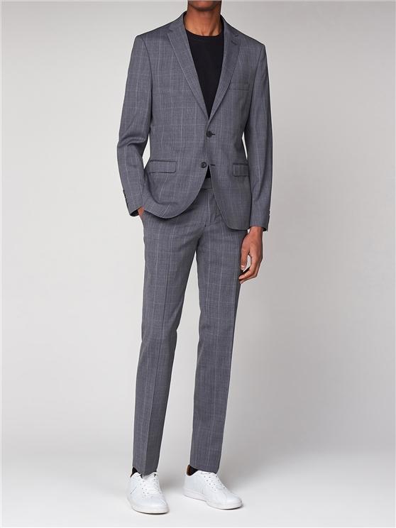 Grey 3 Piece Suit | Grey Check Suit