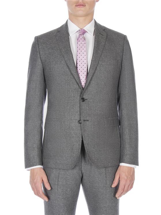 Smoked grey textured jaspe jacket