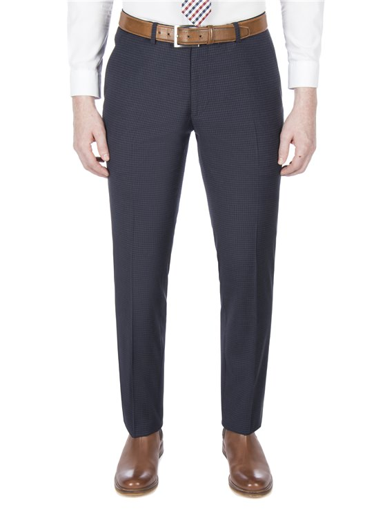 Midnight Gingham Suit Trouser
