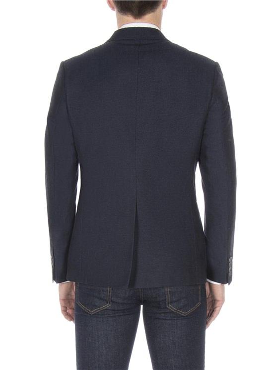 Navy textured linen blazer