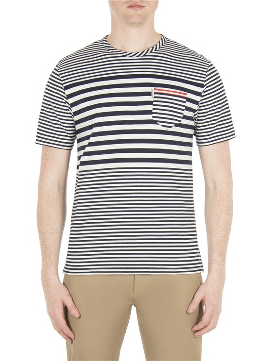 THE ENGINEERED STRIPE STYLED T-SHIRT