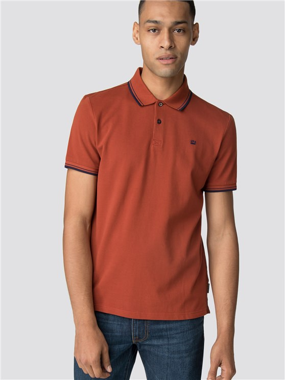 Rust Brown Romford Polo Shirt