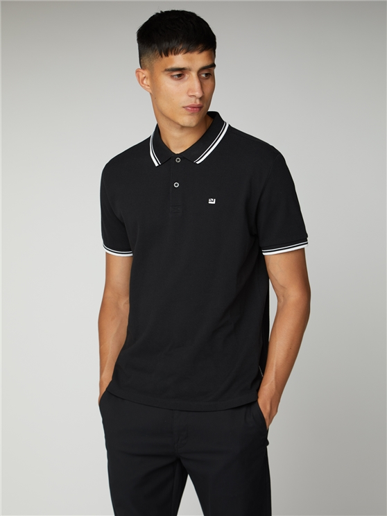 Black Romford Polo Shirt