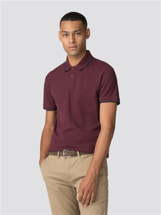 Wine Red Romford Polo Shirt