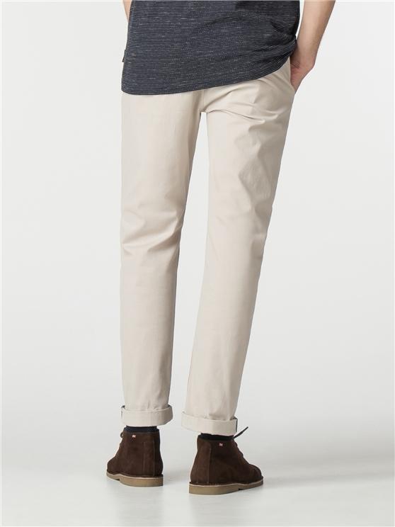 535f2185 Men's Slim Fit Stretch White Chinos | Ben Sherman | Est 1963