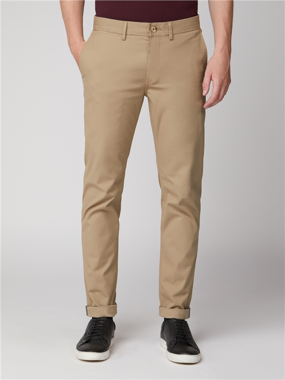 Stone Beige Slim Stretch Chino