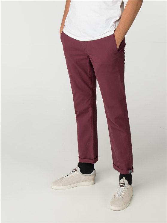 Port Red Slim Stretch Chino