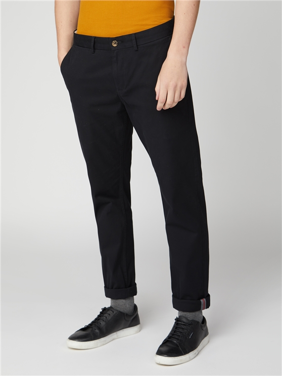 Jet Black Slim Stretch Chino
