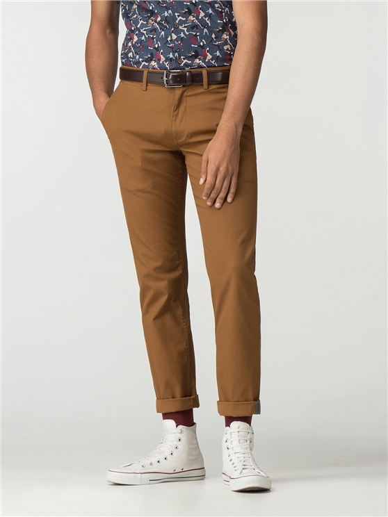 Camel Brown Slim Stretch Chino
