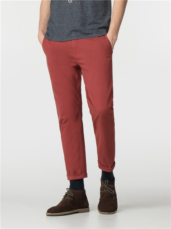 Rust Brown Slim Stretch Chino