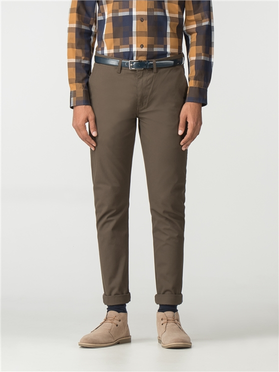 Khaki Slim Stretch Chino