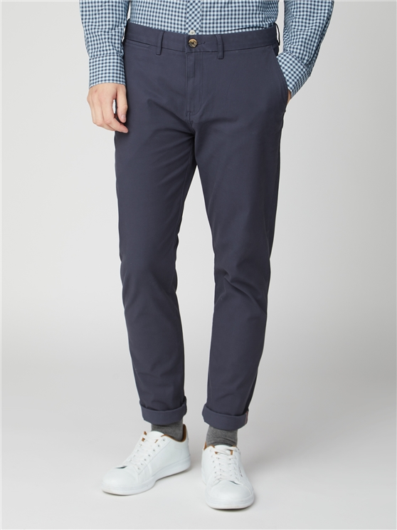 Dark Navy Skinny Stretch Chino