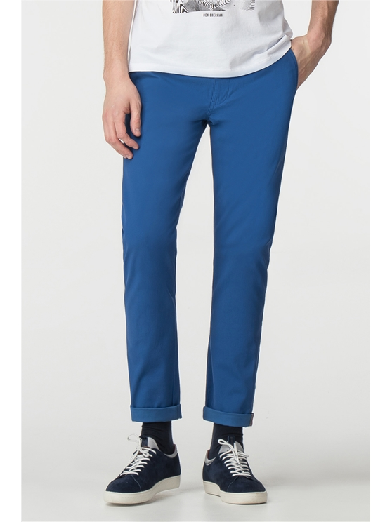 Bright Blue Skinny Stretch Chino