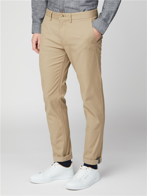 Stone Beige Skinny Stretch Chino