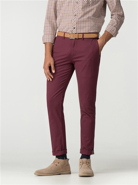 Port Red Skinny Stretch Chino