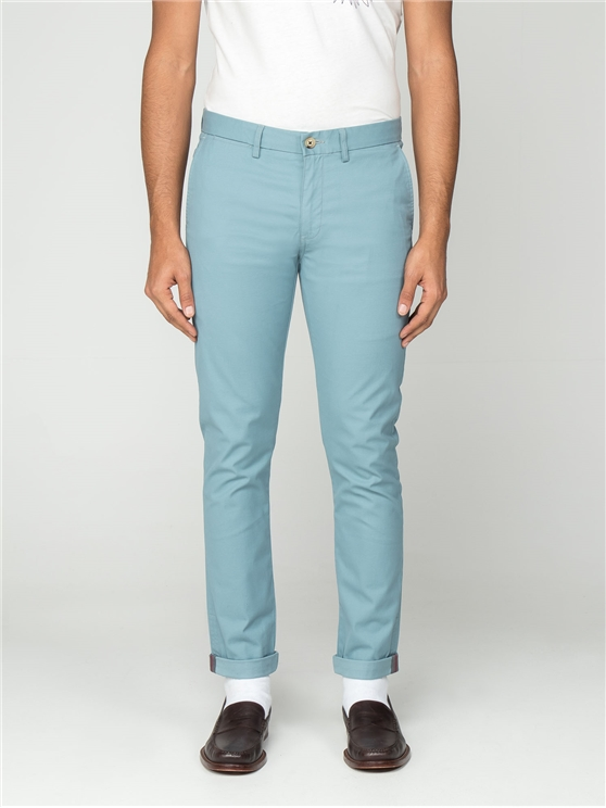 Smoke Blue Skinny Stretch Chino