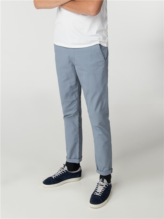 Dusky Blue Skinny Stretch Chino