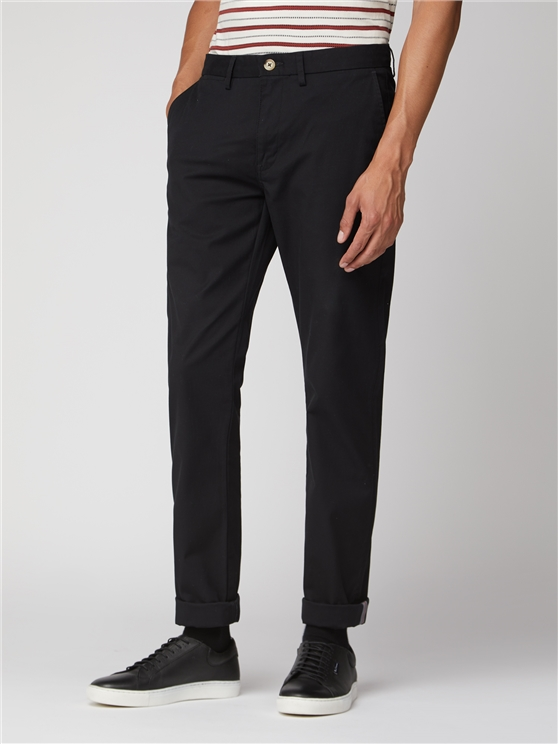 Black Skinny Stretch Chino