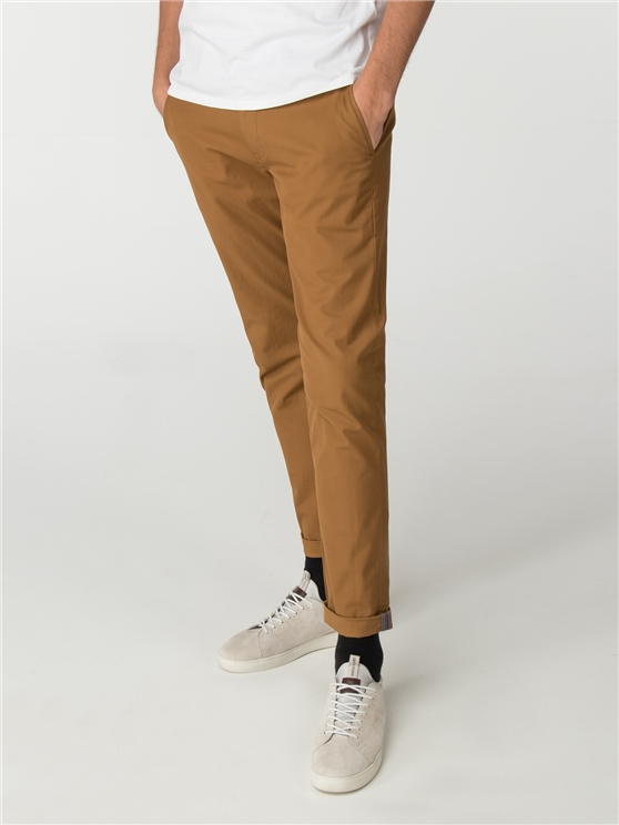 Camel Brown Skinny Stretch Chino