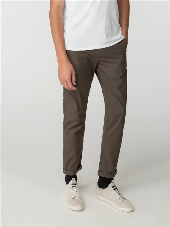 Khaki Skinny Stretch Chino