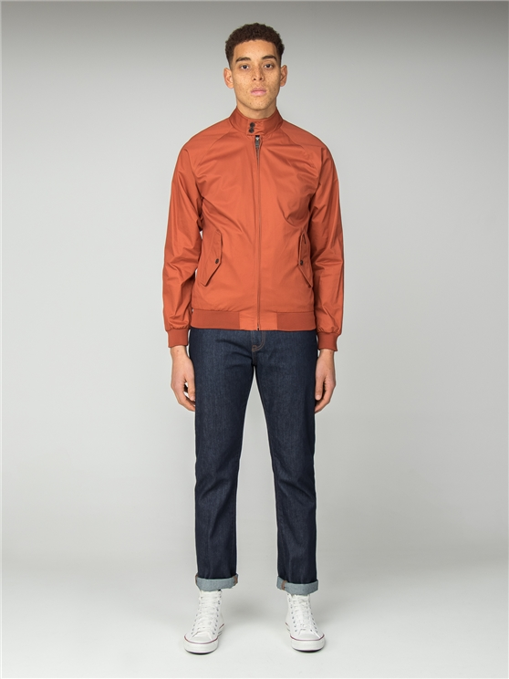 Orange Harrington Jacket