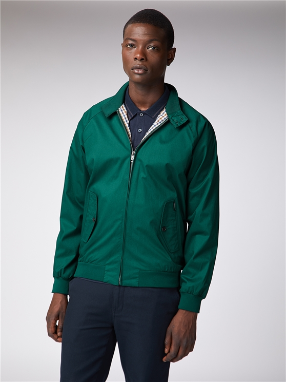 Sea Green Harrington Jacket