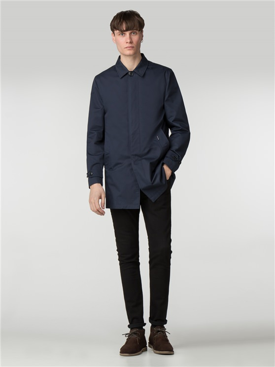 Navy Mac | Mens Blue Mac